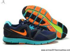 Sale Cheap Nike Lunarglide 3 454164-002 Mens Blue Gray Orange Fashion Shoes Store