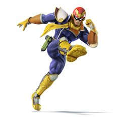 Captain Falcon as he appears in Super Smash Bros. for Nintendo Wii U. Super Smash Bros, Super Smash Flash 2, Smash Bros Wii, Mario Wii, Mario Bros, Nintendo Characters, Video Game Characters, Nintendo 3ds, Wii U