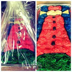 Fire tower vuurtoren cake lange jaap made of 32 cupcakes. Dutch style.