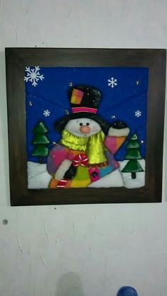 Discover recipes, home ideas, style inspiration and other ideas to try. Christmas Images, Felt Christmas, Christmas Centerpieces, Christmas Decorations, Christmas Paintings, Quilt Patterns, Snowman, Diy And Crafts, Quilts