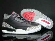 Air Jordan 3 Black White Gray