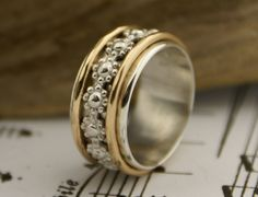 Fancy Wide Wedding Bands For Women Custom Women us Wedding Band or Right Hand Ring or Spinner