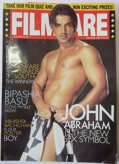 "OLD Vintage FILMFARE SEP.2005 MAGAZINE ""JOHN ABRAHAM IS THE SEX SYMBOL"""