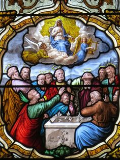Assumption Of Mary, Stained Glass, Catholic, Mystery, Faith, Amazing, Painting, Ascension Day, Painting Art