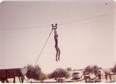Lake Delores zip line, outside Barstow on I-15. 1970s?