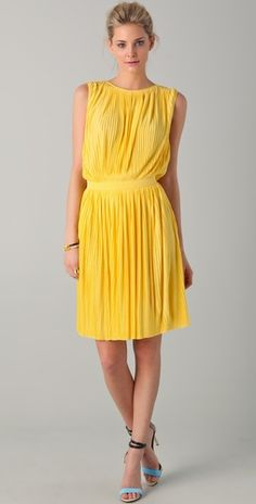Tibi Sleeveless Dress...color is stunning!