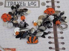 Bengals Football Chunky Charm Bracelet by ForeverCharmingLLC, $37.99