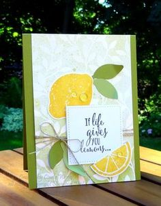Lemon Zest - Stampin' Up! Lemon Blossoms, Wink Of Stella, Stampin Up Catalog, Heart Cards, Stamping Up, Cool Cards, Homemade Cards, Stampin Up Cards, Making Ideas