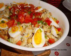 Salada fria de grão com bacalhau e tomate | Cinco sentidos na cozinha | Bloglovin'