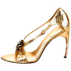 Gold Strappy Heels, T Strap Heels, Ankle Strap Shoes, Fancy Shoes, Crazy Shoes, Hot Shoes, Expensive Heels, Tom Ford Gucci, Car Shoe