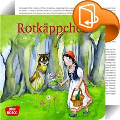 """Rotkäppchen    ::  """"Rotkäppchen"""" zählt zu den beliebtesten Märchen der Brüder Grimm. Dieses Mini-Bilderbuch erzählt das Märchen für Kinder von 3 bis 8 Jahren - in einer kindgerechten und modernen Sprache. Die ideenreichen und detailverliebten Illustrationen stammen von Petra Lefin, die schon mit der Kinderbibelgeschichten-Serie von DON BOSCO zahlreiche kleine und große Fans begeistert hat. Die hosentaschenfreundlichen Mini-Bilderbücher mit den abgerundeten Ecken sind ein begehrtes und ..."""