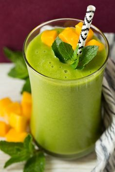 Mango Green Tea Smoothie | Cooking Classy