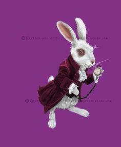 Le lapin blanc d'Alice en vente sur mon blog  http://krysten-art.eklablog.com/le-lapin-blanc-d-alice-a122916350