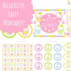 b49d12f36d Free Hello Kitty Printables + Extras! Hello Kitty Theme Party