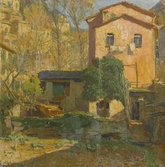 Landscape in the Riviera Ligure, Italy. Carl Moll (1861-1945)