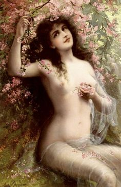 Among the Blossoms. Emile Vernon (French, 1872 - 1919)
