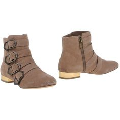 Sam Edelman Ankle Boots ($184) ❤ liked on Polyvore featuring shoes, boots, ankle booties, light brown, short boots, flat booties, sam edelman boots, leather ankle booties and sam edelman booties