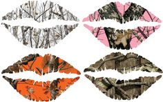 You pick size and color Camouflage lips sticker lips decal for car or truck girls sticker by Backwoodhobbies on Etsy