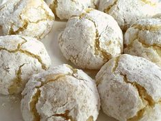 Craquelés au citron au Thermomix Cooking Chef, Fun Cooking, Cooking Recipes, Desserts With Biscuits, Cooking Cookies, Cake Factory, Thermomix Desserts, Lemon Cookies, Biscuit Cookies
