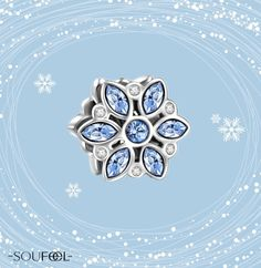 Blue Snowflake Charm. Add some fresh and lively version to your collection. SOUFEEL jewelry, for every memorable day.