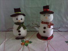 Boneco de neve feito de meia.....