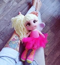 Crochet pattern  fairy Doll por magicfilament en Etsy