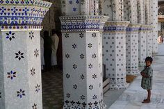 Mosaic decoration on inside wall