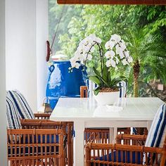 The HAMPTONS DINING TABLE & BUNGALOW DINING CHAIR - demonstrating that grand scale & grand style can still provide an intimate dining experience  #stuartmemberyfurniture #SMHC #shoponline #shipworldwide  #stuartmemberyhome