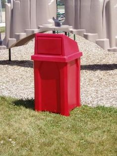 32 Gallon Kolor Can Indoor Outdoor Trash Can Lid Options, 11 Colors) Waste Container, Container Design, Outdoor Ashtray, Outdoor Trash Cans, Trash Containers, Pick Up Trash, Stone Panels, Swinging Doors, Thing 1