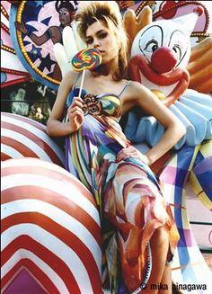 colorful high fashion photography
