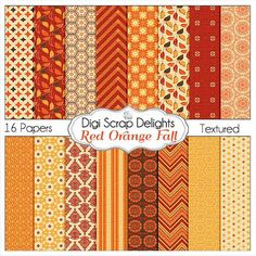 50% OFF TODAY Fall Digital Papers Bundle w by DigiScrapDelights