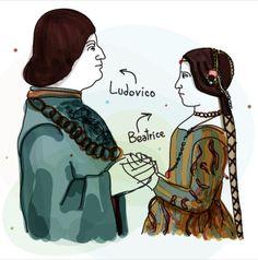 Ludovico il Moro e Beatrice d'Este, disegno. Icona Pop, Disney Characters, Fictional Characters, Disney Princess, House, Home, Fantasy Characters, Disney Princesses, Homes