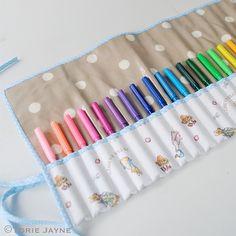 Roll up pen case tutorial by toriejayne, via Flickr