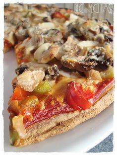 DECORECETAS: Pizza Vegetal -Integral