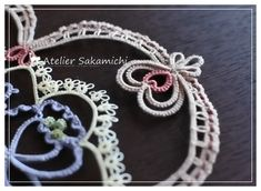 Tatting Lace, Tatting Patterns, Ring Bracelet, Doilies, Needlework, Eye Candy, Crochet Earrings, Chokers, Embroidery