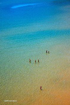 Psili Ammos beach in Samos island, Greece