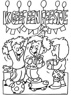 kleurplaat feest school kidkleurplaat nl
