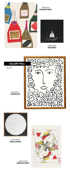 gallery wall // 5 pieces of art