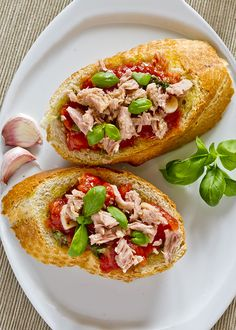Tuna Bruschetta - A delicious twist on an classic Italian starter! - www.fishisthedish.co.uk/recipes/tuna-bruschetta