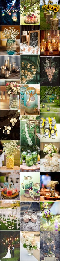 50+ Ways To Incorporate Mason Jars Into Your Rustic Wedding - See more at: http://www.deerpearlflowers.com/50-ways-to-incorporate-mason-jars-into-your-wedding/ #rustic wedding ideas