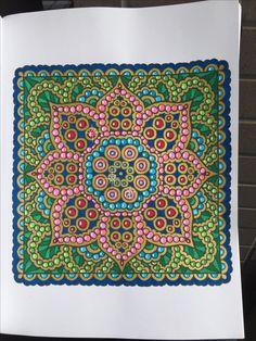 Square Mandalas Alberta Hutchinson Page 19 Creative Haven Coloring Book Tombow