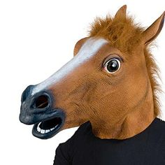 XIAO MO GU Halloween Costume Party Latex Animal Horse Head Mask *** More info could be found at the image url.