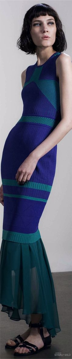 Prabal Gurung Resort 2017 Knitwear Fashion, Knit Fashion, All Fashion, Colorful Fashion, Fashion 2017, Fashion Outfits, Runway Fashion Looks, Resort 2017, Resort Wear