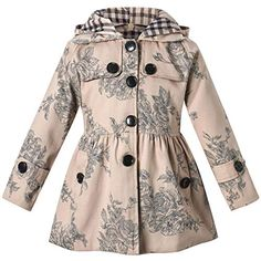 KONFA Teen Toddler Baby Girls Fall Winter Clothes,Sequins Floral Hooded Jacket Coat Zipper Hoodie Outerwear