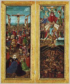 Jan van Eyck and Workshop Assistant: The Crucifixion; The Last Judgment (33.92ab)   Heilbrunn Timeline of Art History   The Metropolitan Museum of Art.