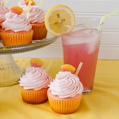 pink lemonade cupcakes - this makes me want to have a spring party just so I can make these!