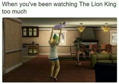 Memes in real life the sims so true ideas for 2019 Sims 4, The Sims, Sim Fails, Sims Glitches, Sims Memes, Sims Humor, Watch The Lion King, Memes In Real Life, New Memes