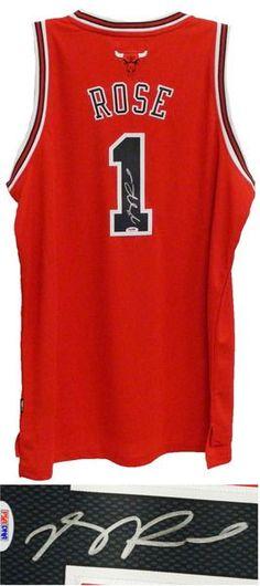 Derrick Rose Signed Chicago Bulls Red Reebok Swingman Jersey - PSA DNA f2ddb522b