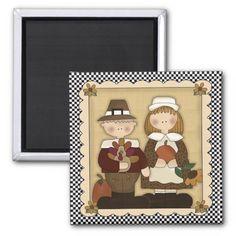 November Holiday Pilgrim Thanksgiving Magnet | Zazzle.com