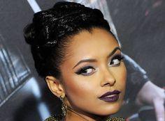kat graham makeup - bold lips